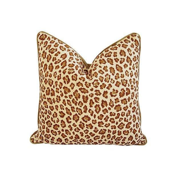 Custom Safari Leopard Velvet Pillows - a Pair - Image 2 of 7