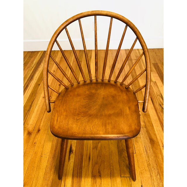 Maple Vintage Mid Century Russel Wright for Conant Ball Windsor Style Maple Chairs- A Pair For Sale - Image 7 of 10