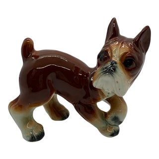 Vintage Mid Century Kitsch Boxer Figurine, Japan For Sale