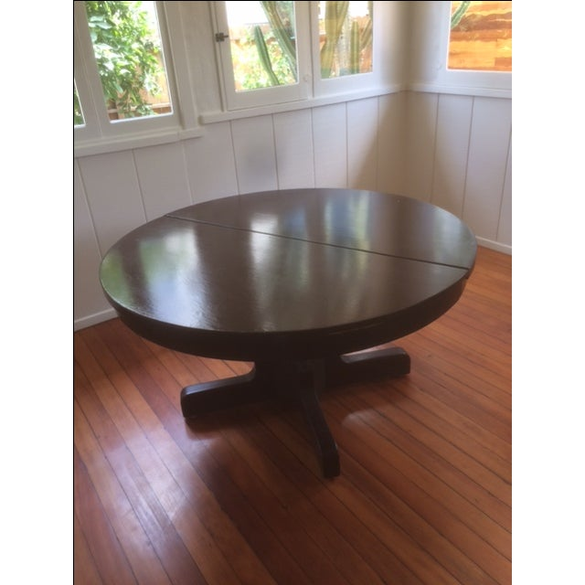 Large Pedestal Dining Table & Four Leaves - Image 3 of 8