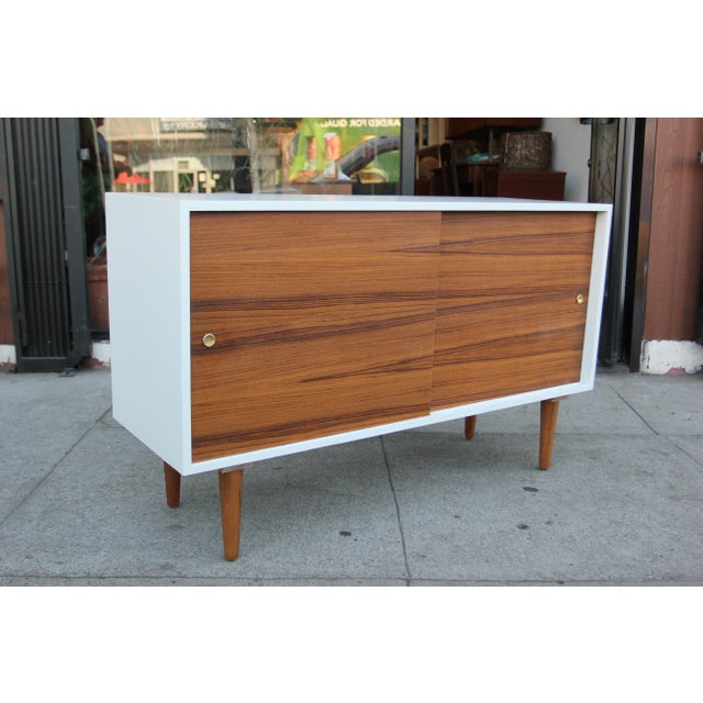 While Lacquered Credenza For Sale In Los Angeles - Image 6 of 13