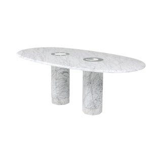 Sun & Moon Marble Dining Table by Adolfo Natalini for Up & Up - 1990s For Sale