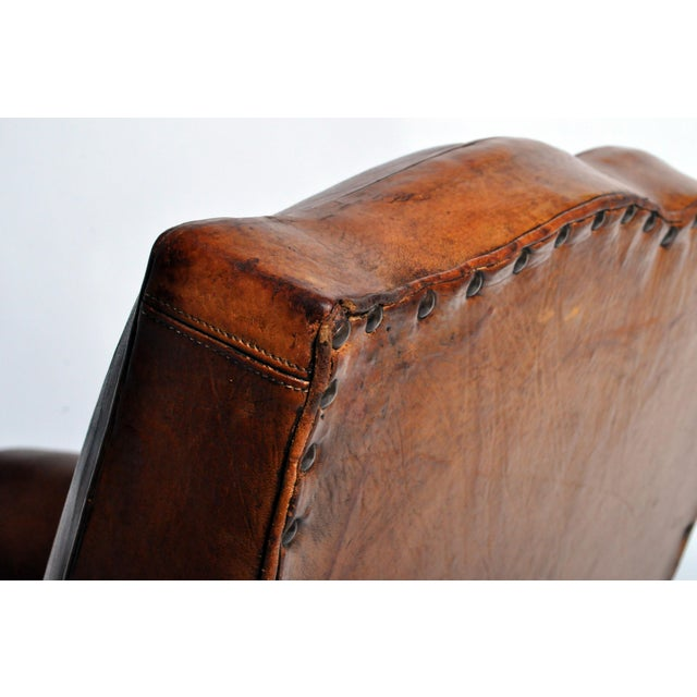 Art Deco Leather Club Chair - Image 7 of 11
