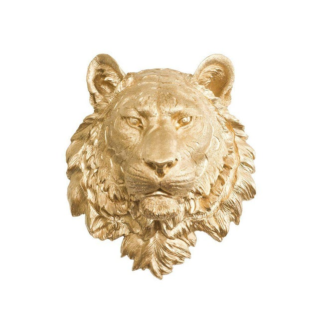 Wall Charmers Gold Faux Taxidermy Tiger Head Wall Sculpture - Image 2 of 3