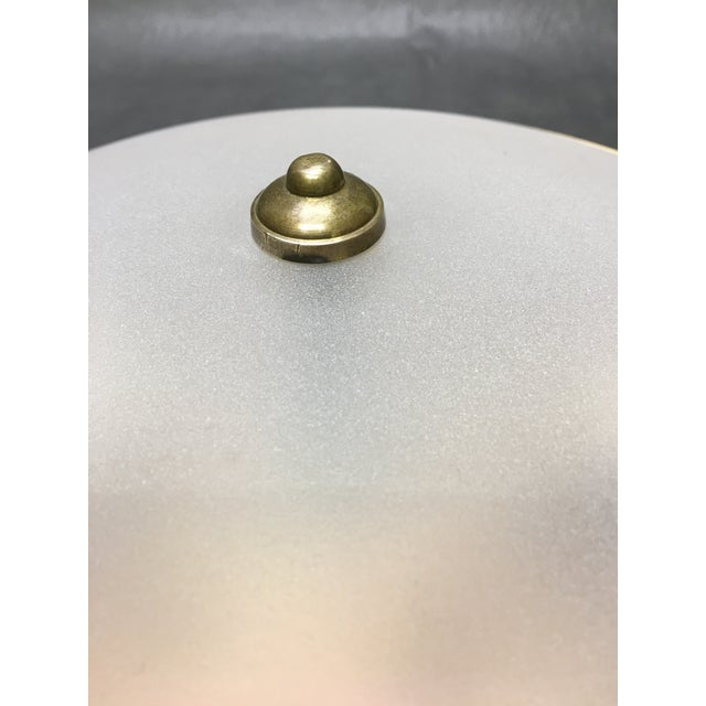 Shabby Chic Vaughan Hodnet Bowl Flush Mount Light Brass With Plain Frosted Glass For Sale - Image 3 of 5