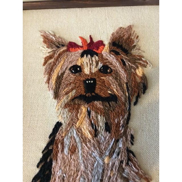 Handmade Framed Yorkie Dog - Image 3 of 10