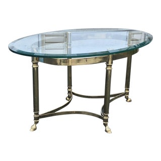 20th Century Hollywood Regency La Barge Oval Coffee Table For Sale