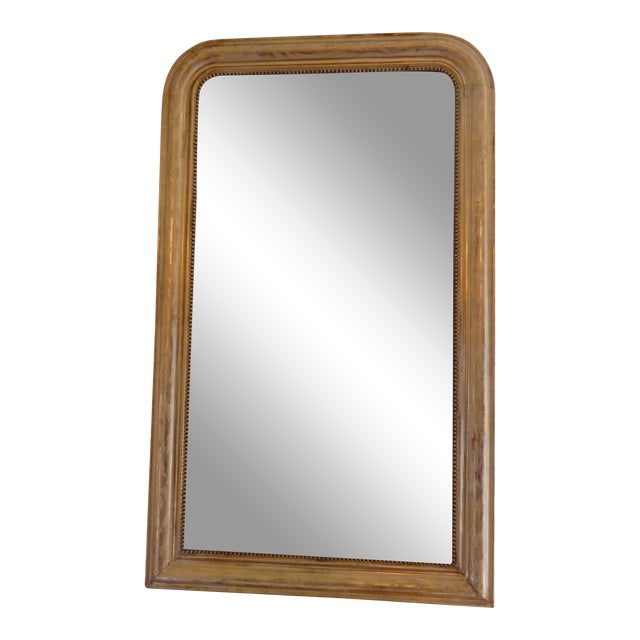 19th Century Louis Philippe Gold Gilt Mirror For Sale