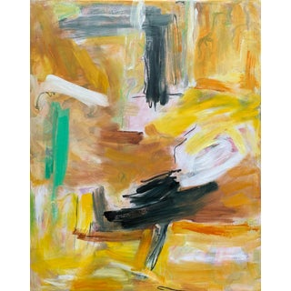 """Eagle's Nest"" by Trixie Pitts XL Painterly Abstract Expressionist Oil Painting For Sale"