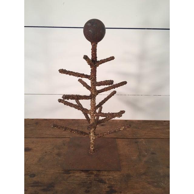 Brown Brutalist Folk Art Tree Sculpture For Sale - Image 8 of 8