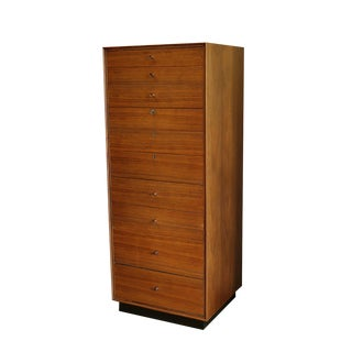 Mid-century Walnut with Rosewood Pulls Chest of Drawers by Glenn of California c. 1950s