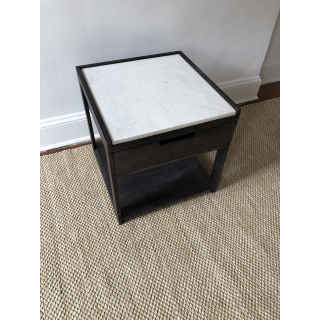 Vintage CB Tux MarbleTop Nightstand Chairish - Cb2 tux coffee table