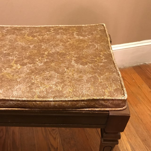 Mid-Century Piano Bench Storage Stool For Sale - Image 4 of 11