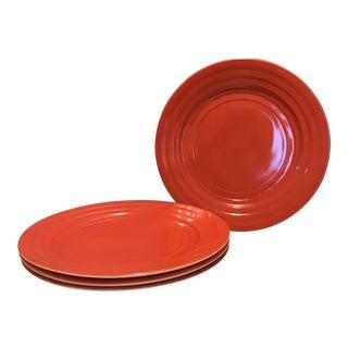 Vintage Hazel Atlas Orange Dinner Plates - Set of 4 For Sale