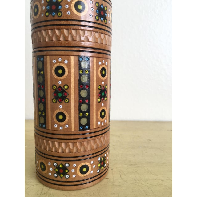Bohemian Handmade Gypsy Wooden Bottle - Image 4 of 6