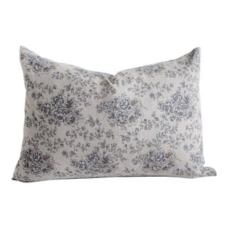 Vintage Inspired European Linen Lumbar Pillow Cover For Sale