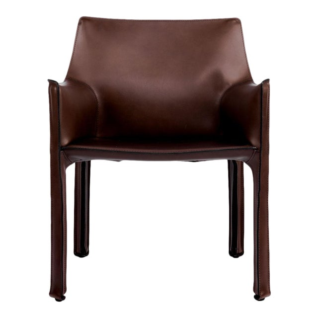 Cassina Briar Root Saddle Leather Maxi Armchair For Sale