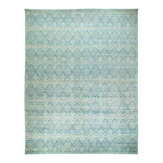 "Eclectic Hand Knotted Area Rug - 11' 10"" X 15' 5"" For Sale"