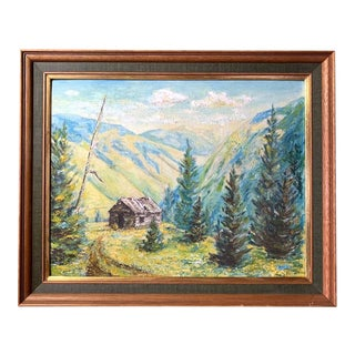 Original Oil Painting - Emigrant Gulch Montana For Sale