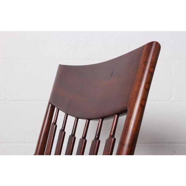 Walnut Craft Armchair by John Nyquist - Image 6 of 10