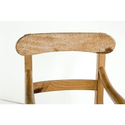 Wood Rustic Michael Taylor Pine Chair For Sale - Image 7 of 9