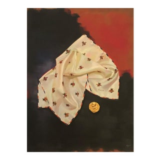 Abstract Pop Art Gucci Bee Scarf Coin Print