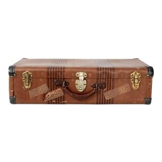 Vintage 1930s Striped Suitcase