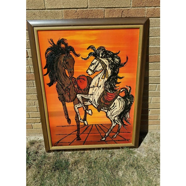 Turner Original Turner Wall Accessory Lee Burr Carousel Horse Painting For Sale - Image 4 of 9