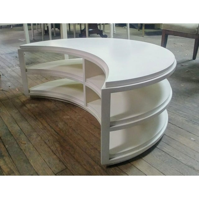 Sale includes one complete occasional table as pictured. The Guggenheim Occasional Table features a fixed centre and lower...