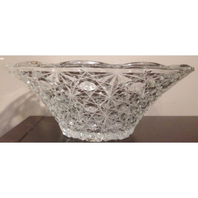 Vintage Cut Lead Crystal Bowl For Sale - Image 11 of 11