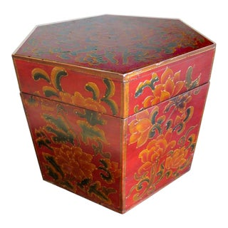 Softwood Hexagonal Box For Sale