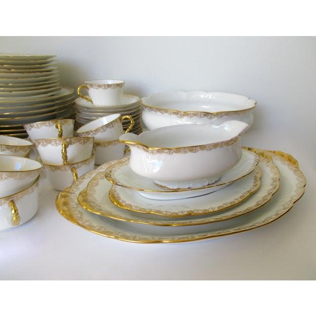 Vintage BMdeM, L. Strauss & Sons for Limoges Gilt Medallion Dinnerware - 60 Pieces For Sale - Image 9 of 13