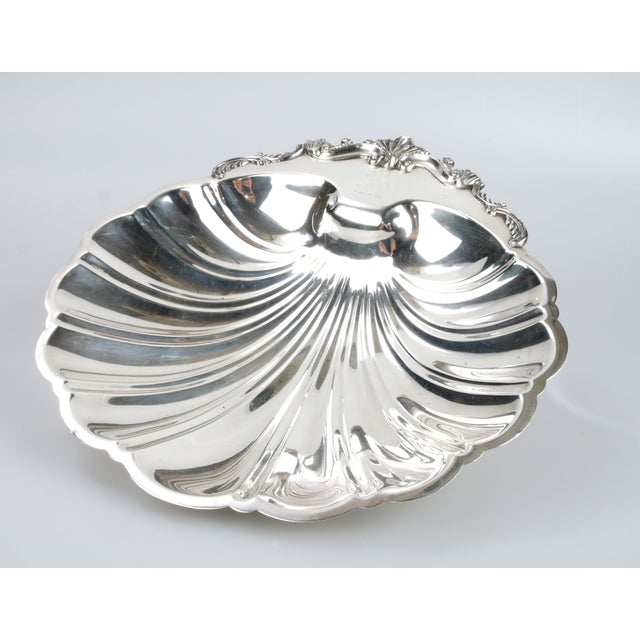 Signed Silver on Copper Clam Shell Bowl For Sale - Image 4 of 10