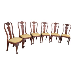 Vintage Lexington Furniture Chippendale Mahogany Dining Chairs- Set of 6 For Sale