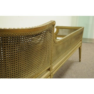 Antique French Louis XVI Style Caned Chaise Lounge Recamier Fainting Couch Sofa Preview