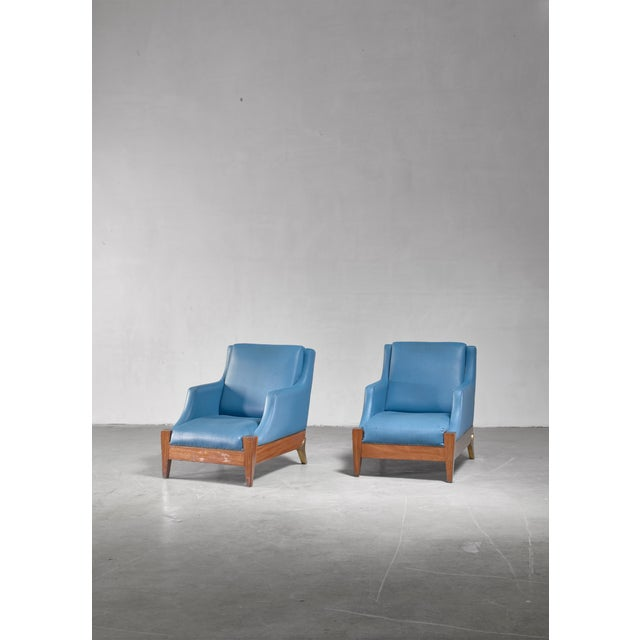 Melchiorre Bega Melchiorre Bega Pair of Lounge Chairs, Italy, 1940s For Sale - Image 4 of 6
