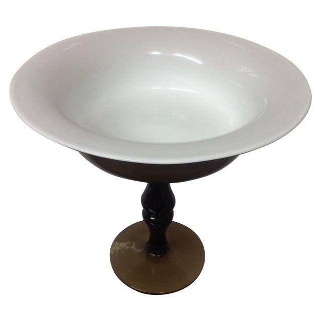 Holmgaard Olive Glass Tazza - Image 1 of 5