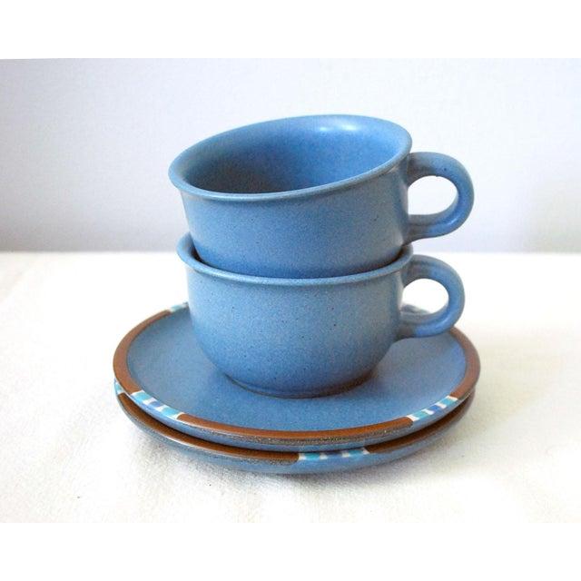 Dansk Vintage Dansk Mesa Blue Cup and Saucer - a Pair For Sale - Image 4 of 7