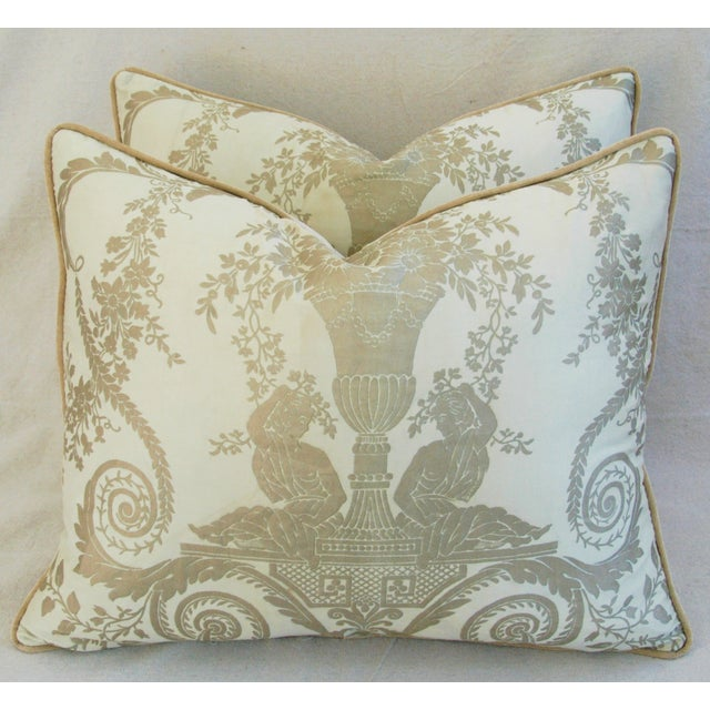 Custom Italian Fortuny Lamballe Pillows - Pair - Image 2 of 11