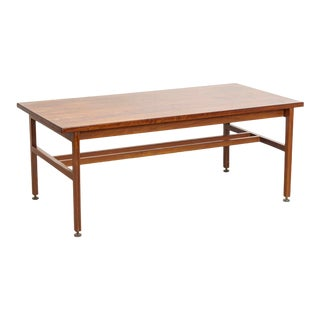 Large Vintage Mid Century Jens Risom Solid Walnut Wood Desk or Table, 1960s For Sale