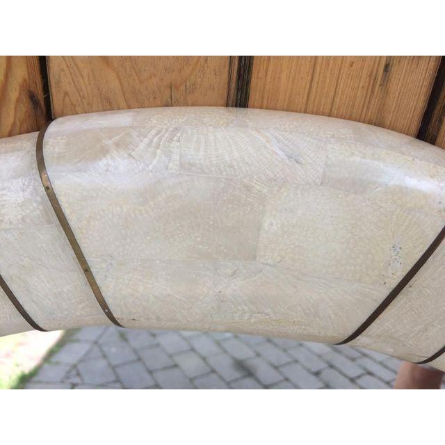 Maitland Smith Large Tessellated Stone Mirror - Image 4 of 5