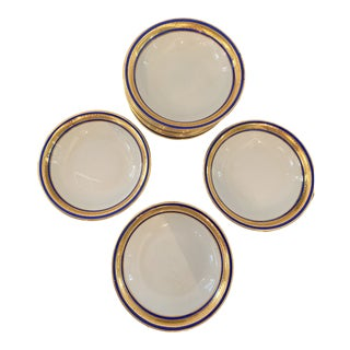 Bern Lan Fine China Company of Bavaria Blue and 22K Gold Small Bowls - Set of 12 For Sale