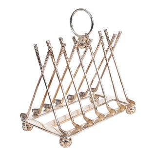 Vintage English Silver Plated Toast Rack For Sale