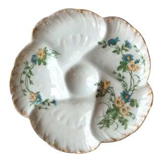 Antique Limoges Porcelain Oyster Plate For Sale