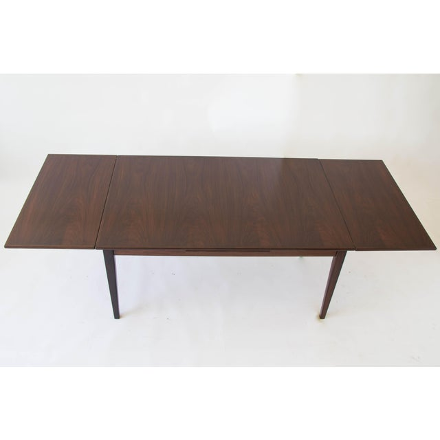Brown Rosewood Dining Table with Dutch Extension by Gudme For Sale - Image 8 of 9