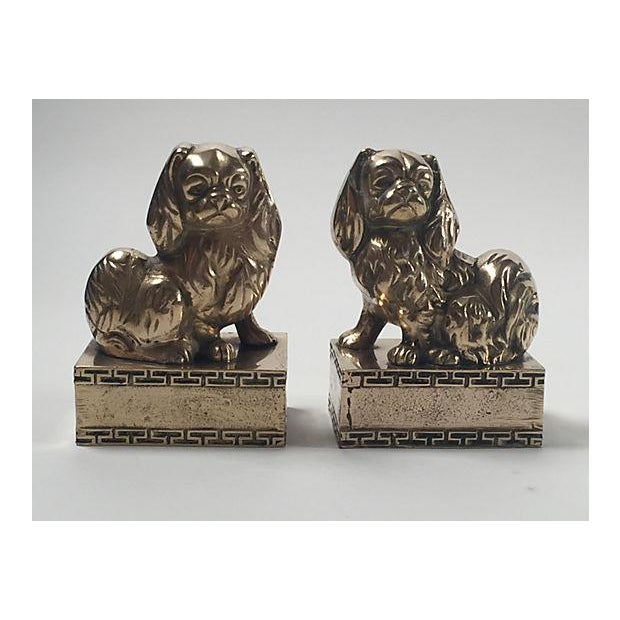Brass Spaniel Bookends - Pair - Image 3 of 4