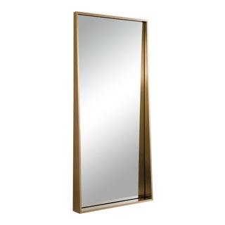 Gunner Mirror in Natural Brass For Sale