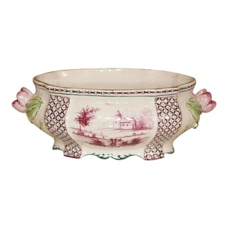 18th C Porcelain Tureen with Clamercy Markings For Sale