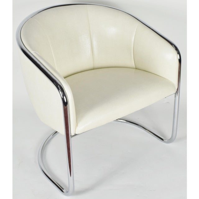 Thonet Thonet Barrel Back Club Chair For Sale - Image 4 of 7