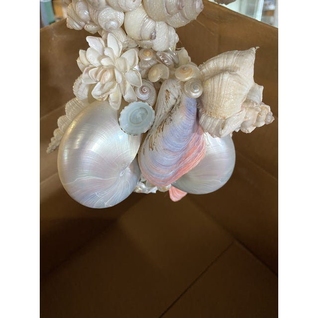 Italian Pearlized Sea Shell Chandelier For Sale - Image 10 of 12